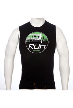 Reebok Run Graphic Tank Black, s, black