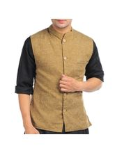 Sobre Estilo Linen Nehru Men Jacket - WV0013183, brown, m