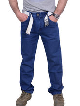 First Row Men's Comfort Fit Jeans, 32, blue