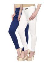 Civilized Showdown Lycra Jeggings-Pack Of 2, blue, 4xl