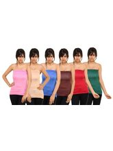 Phalin Pack Of 6 - Premium Chic Tube Top Tube_ c6_ 7, 32, multicolor