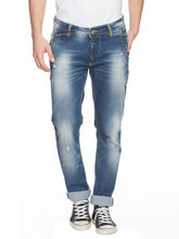 Slim Low Rise Narrow Fit Jeans, 34, mid blue