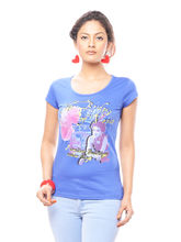 Trendy Girlz Women's Printed T-Shirt, l, ultramarine
