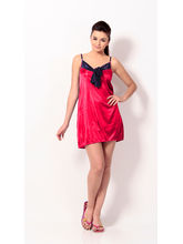 Klamotten Short Babydoll Dress, cherry