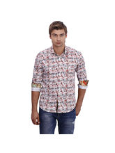 Punctuate Achtung Rust Fashion Casual Shirt, multicolor, xl