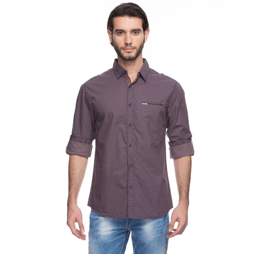Spykar Solid Regular Slim Fit Shirt