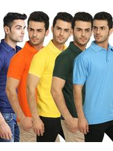 Lime Offers Combo of 5 Men's Polo T-Shirts, xl, multicolor