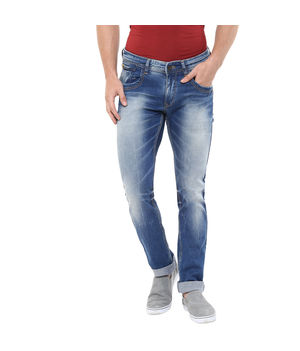 Skinny Fit Jeans, 34,  mid blue