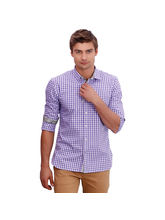 Punctuate Sassy Smart Casual Shirts, purple, m