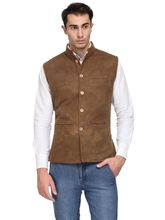Sobre Estilo Men's Cottswool Nehru Jacket, m, brown