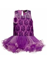 Lil Poppets Lace Tutu Dress T Back for Girls, purple, 5
