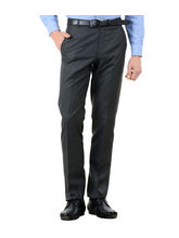 American-Elm Men's Basic Cotton Formal Trouser, 32, grey