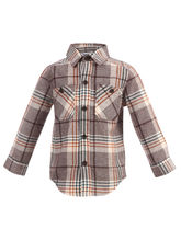 ShopperTree Multicheck Double Pocket Shirt For Boys, multicolor, 0 6m