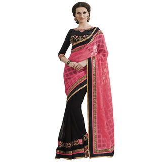 Indian Women By Bahubali Chiffon Saree, multicolor