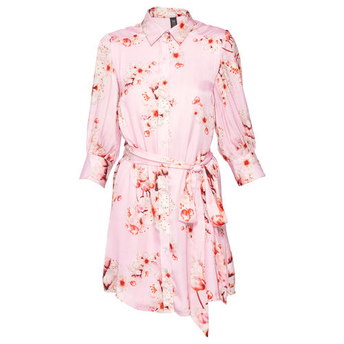 Cherry Blossom Shirt dress with an Obi, s