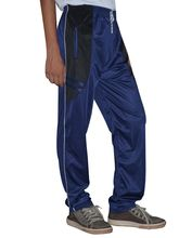 DS Polyester Men's Trackpant, blue and black, s