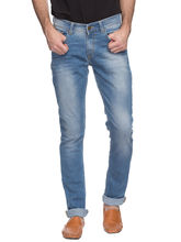Skinny Low Rise Narrow Fit Jeans, 38, mid blue