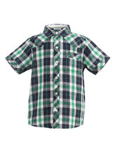 ShopperTree Check Half Sleeves Shirt For Boys, 7 8y, multicolor