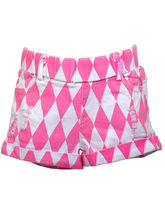 Lil Poppets Torn Rugged Shorts for Girls, pink, 6
