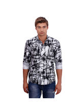 Punctuate Ethereal Stroke Fashion Casual Shirt, multicolor, m
