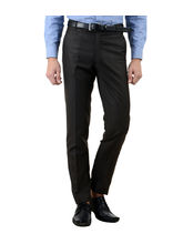 American-Elm Men's Basic Cotton Formal Trouser, 32, black