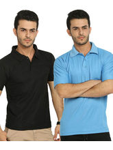 Lime Offers Combo of 2 Men's Polo T-Shirts, multicolor, l