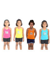 Lilsugar Cotton Girls Lingerie Set Of 4, multicolor, 50