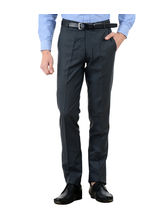 American-Elm Men's Basic Cotton Formal Trouser, 32, blue
