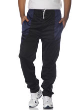 DS Polyester Men's Trackpant, black and blue, s