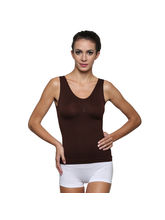 Wetex Premium Nylon and Lycra Women's Camisole, brown