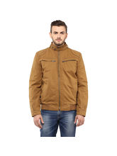 Regular Solid Jacket, xl, khaki
