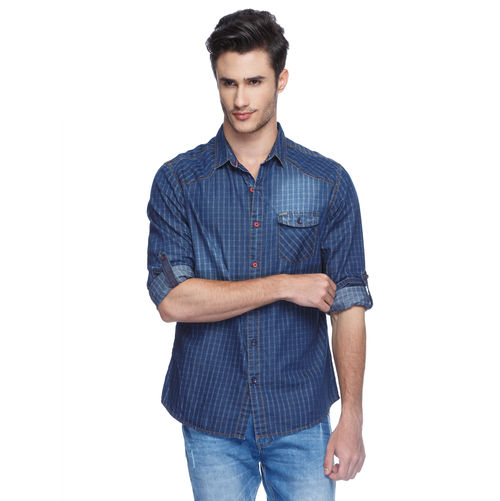 Spykar Checks Regular Slim Fit Shirt