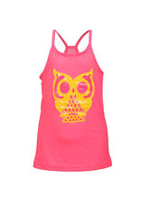 Lil Poppets T-Shirt with Owl for Girls, pink, 5