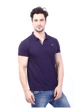 Rugby Mens Half Sleeve T-Shirt With Chest Embroidery, marine, l