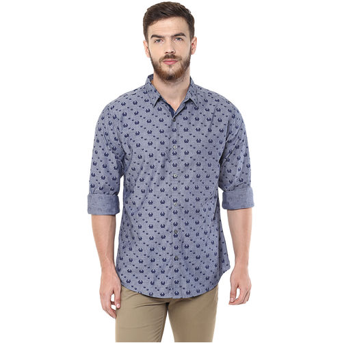 Printed Regular Slim Fit Shirt