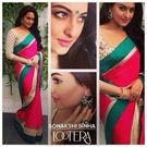 Sonakshi Sinha lootera Promotion saree by Vamika -S3, multicolor