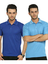 Lime Offers Combo of 2 Men's Polo T-Shirts, multicolor, s