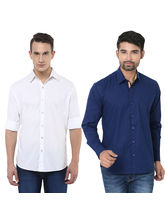 Stylox Pack Of 2 Stylish Shirts For Men, multicolor, s