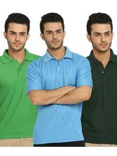 Lime Offers Combo of 3 Men's Polo T-Shirts, l, multicolor