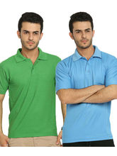 Lime Offers Combo of 2 Men's Polo T-Shirts, multicolor, xxl