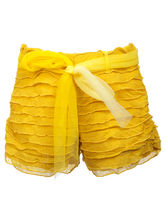 Lil Poppets Comfy Cool Shorts - Yellow for Girls, yellow, 3