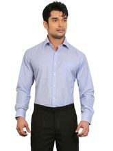 A&C Signature Graceful Poly Cotton Regular Fit Full Sleeves Formal Shirt for Men, blue, 38