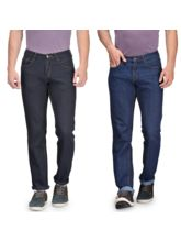 Rico Sordi Mens Combo of 2 Jeans, black and blue, 32