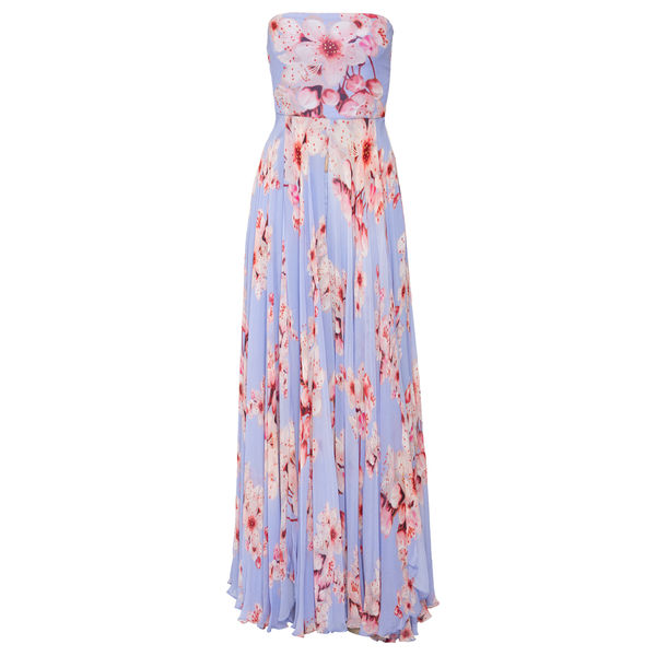 Cherry Blossom printed Strapless Top and Trousers, m