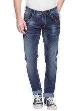 Skinny Low Rise Narrow Fit Jeans,36,Mid Blue