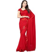 Vamika Chiffon Women's Saree,  red