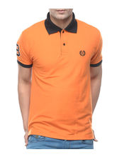 Sobre Estilo Men Muscle Fit Polo T-Shirt - WV0013395, orange, l