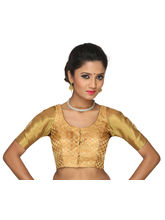 The Blouse Factory Gorgeous en Traditional Padded Blouse Best Suited of Kanjeevarams, 34, gold