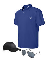 D Vogue London T-shirt, Cap & Sunglasses Combo, blue, xl
