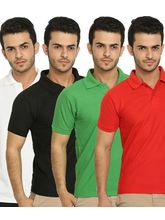Lime Offers Combo of 4 Men's Polo T-Shirts, xxl, multicolor